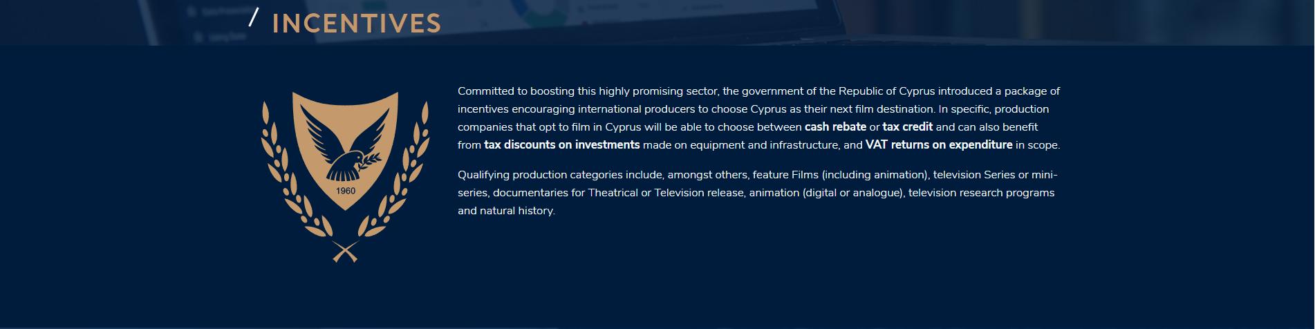 animation tax breaks cyprus