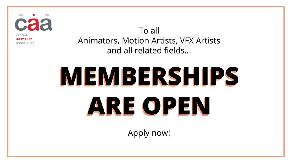 CAA_Cyprus Animation Association Membership Open