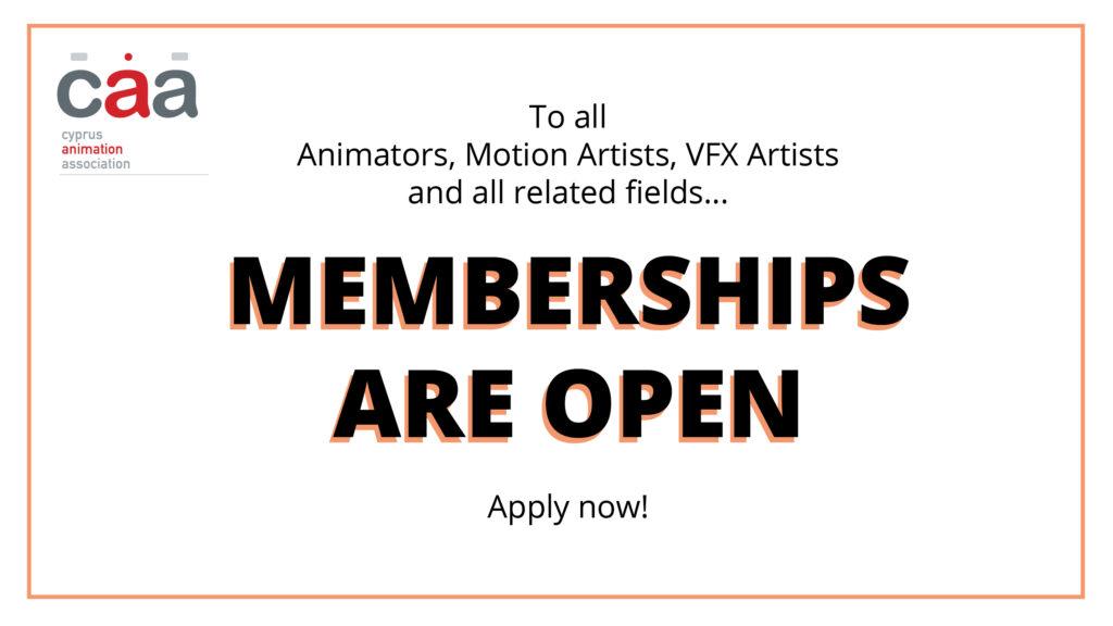 CAA_Cyprus Animation Association Membership Open